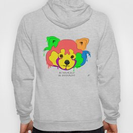 Be yourself, be different - Red Panda Hoody