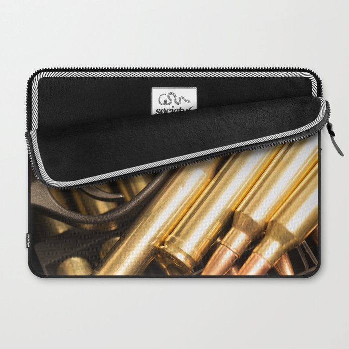 Rifle Trigger and Bullets Laptop Sleeve
