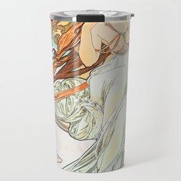 Alphonse Mucha Music Art Nouveau Travel Mug