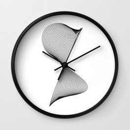 """Linear Collection"" - Minimal Number Eight Print Wall Clock"