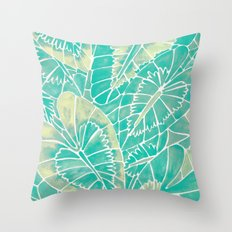 Schismatoglottis Calyptrata – Mint Palette Throw Pillow