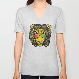Jamaican Lion product Gift for Rastas & Reggae Music lovers Unisex V-Neck