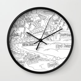WWP Color it: The Map Wall Clock