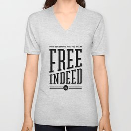Free Indeed - Photo Unisex V-Neck