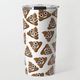 Pile of Poop Smiling Poo Emoji Pattern Travel Mug