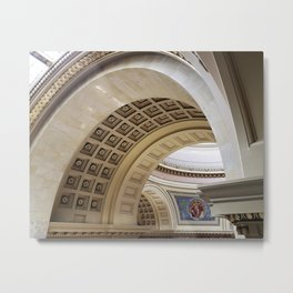 Wisconsin Capitol Building Arches And Angles Metal Print