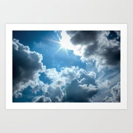 Bright and sunny London sky Art Print