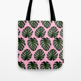 Pink Fronds Tote Bag
