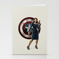 agent carter Stationery Cards featuring Agent Carter by Tera Sidebottom