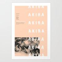 akira Art Prints featuring Akira by hana prints