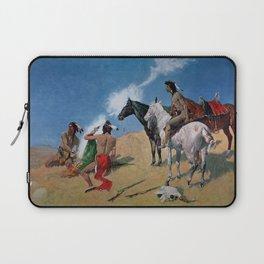 "Frederic Remington Western Art ""Smoke Signals"" Laptop Sleeve"
