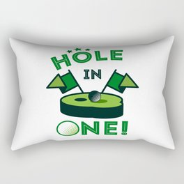 Funny Golf Gift Golfer Golfing Hole In One Rectangular Pillow