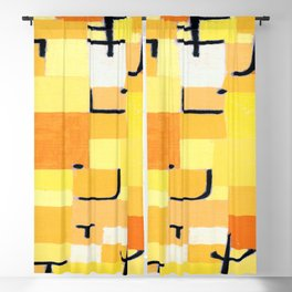 Paul Klee Signs in Yellow Blackout Curtain