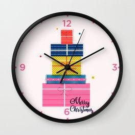 Pile of christmas presents Wall Clock
