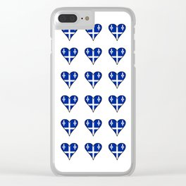 Flag of quebec heart– Canada, montreal,Saint Laurent,Quebecois,belle province, trois rivières. Clear iPhone Case