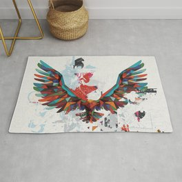 Let Your Ideas Take Off - A big Leap of faith - Soaring Eagle Rug