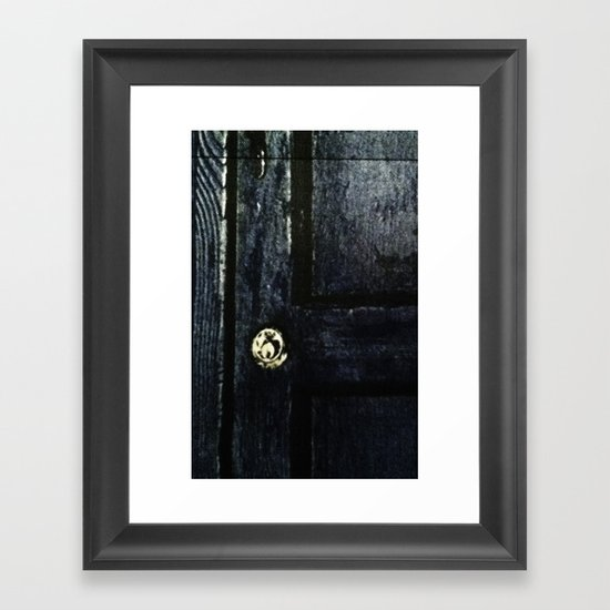 Doctor Who: Who has the Tardis key? Framed Art Print