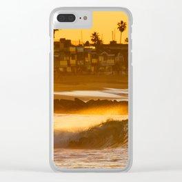 Sunrise Shorebreak Clear iPhone Case