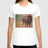 patriotic T-shirts featuring Patriotic Bison  by IndigoGallery