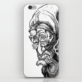 Crazy Angry Eyes iPhone Skin