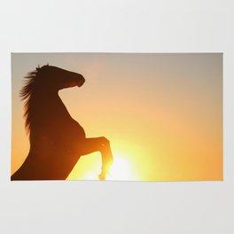 horse silhouette Rug
