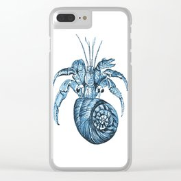 Fish nautical sea blue watercolor Clear iPhone Case