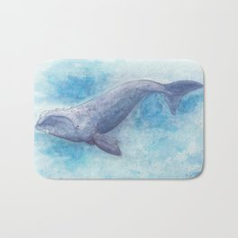 Southern right whale Bath Mat