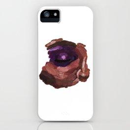 Eye acrylic painting iPhone Case