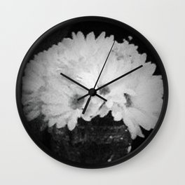 Flower print #2 Wall Clock