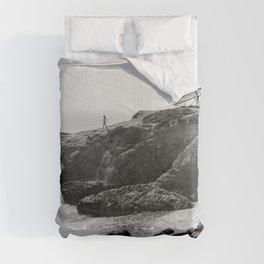 Leo Carrillo State Beach   Malibu California   Black and White Photography   Malibu Photography Comforters