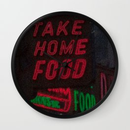 Take Home Food Wall Clock