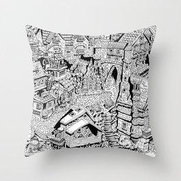 Capharnaüm City Throw Pillow