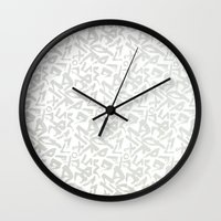 calligraphy Wall Clocks featuring Calligraphy  by Johs