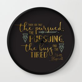 The Pursued & The Pursuing Wall Clock