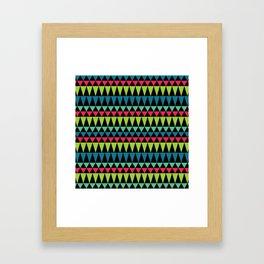 Neon Southwestern Pattern Framed Art Print