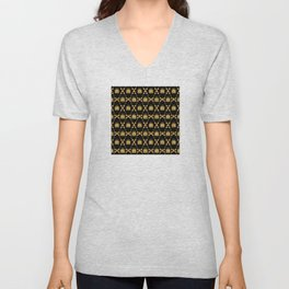 Classique Art Deco Gold Butterfly Pattern Unisex V-Neck
