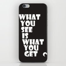 What You See iPhone Skin