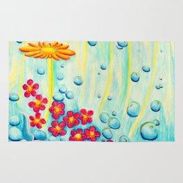 Aqua Fleur - Mazuir Ross Rug