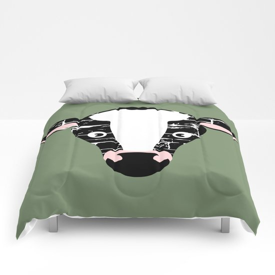 Cute Cow Face Comforters