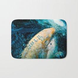 Koi Closeups #2 - Surfacing with Bubbles Bath Mat