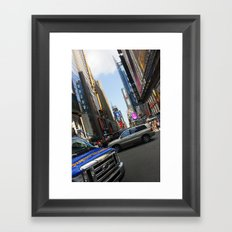 New York City Time Square NYC Framed Art Print