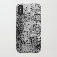 leaves iPhone & iPod Cases featuring Branches & Leaves by David Bastidas
