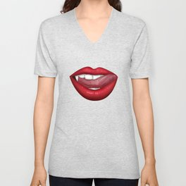 Vampire Lips Unisex V-Neck