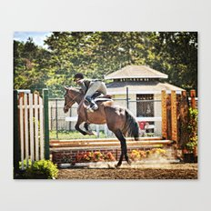 Equestrian love Canvas Print