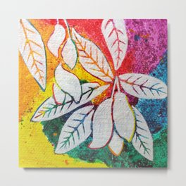 Leaves on the World Tree: Bengali Mango Metal Print