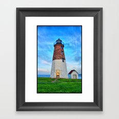 Point Judith Lighthouse HDR Framed Art Print