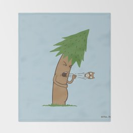 Tree Cough Throw Blanket