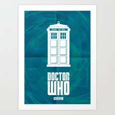 Doctor who tardis Art Print