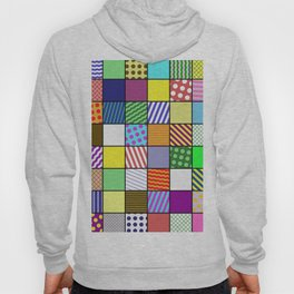Retro Patchwork - Abstract, geometric, patterned design Hoody