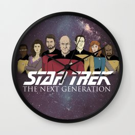Star Trek: The Next Generation Crew/updated Wall Clock